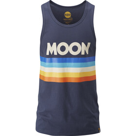 Moon Climbing Retro Stripe Vest Men moon indigo